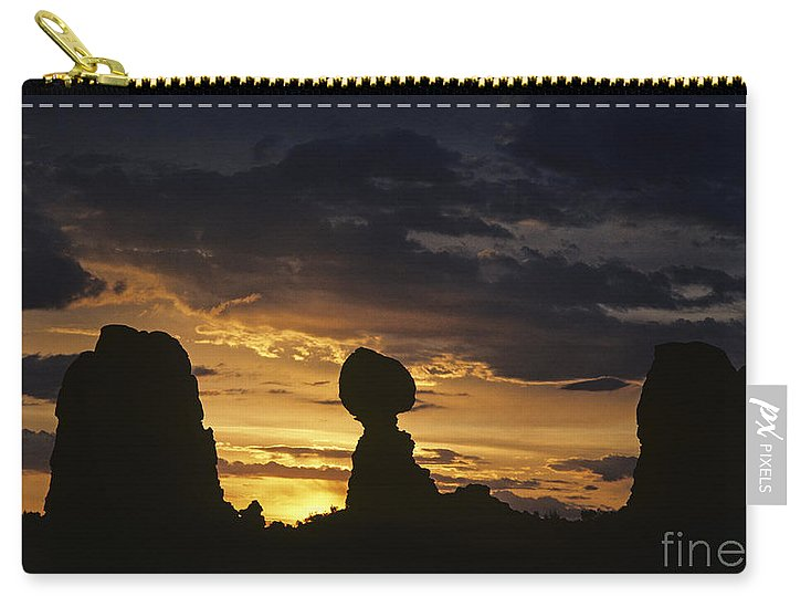 Landscape Carry-all Pouch featuring the photograph Balance Rock Arches National Park by Jim Corwin