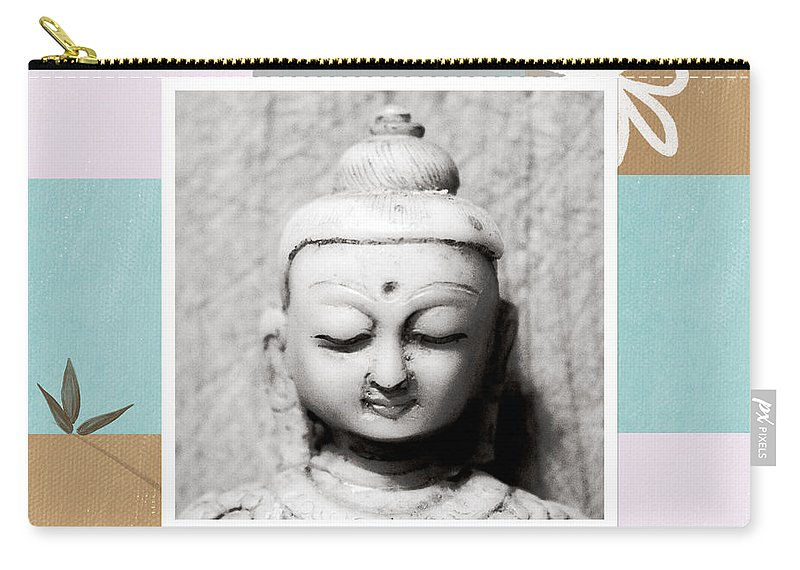 Buddha Carry-all Pouch featuring the painting Balance- Zen Art by Linda Woods