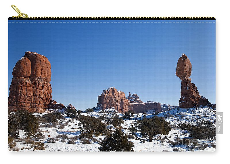 Arches Carry-all Pouch featuring the photograph Balanced Rock Arches National Park Utah by Jason O Watson