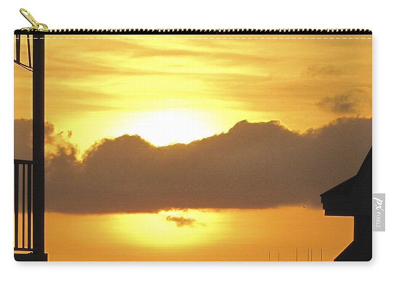 Sunset Carry-all Pouch featuring the photograph Key West Balcony Sunset by Bob Slitzan
