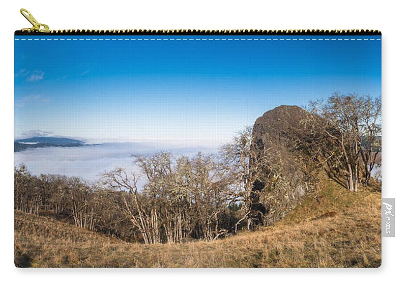 Redwood National Park Carry-all Pouch featuring the photograph Bald Hills Vista Panorama by Greg Nyquist