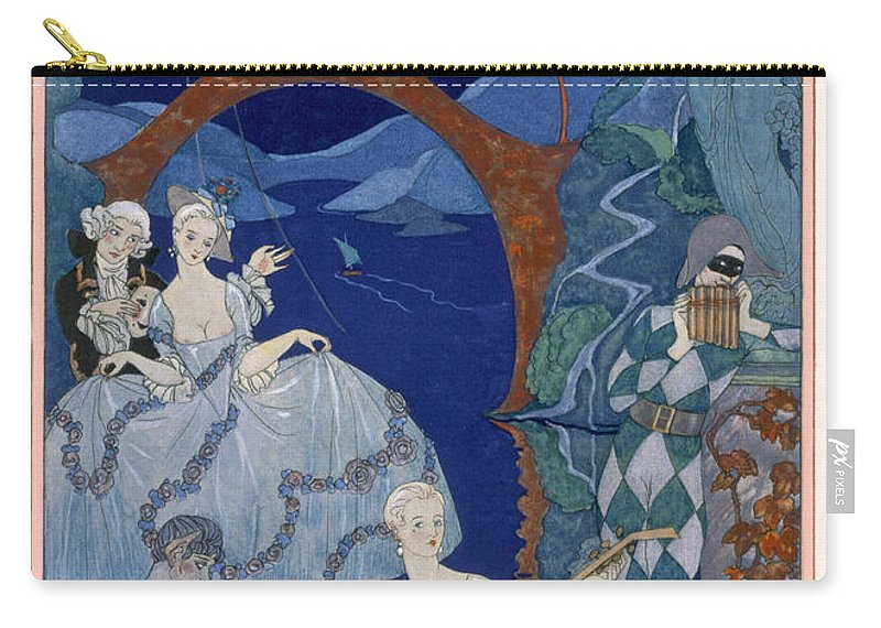 Bacchanal Carry-all Pouch featuring the painting Ball Under The Blue Moon by Georges Barbier