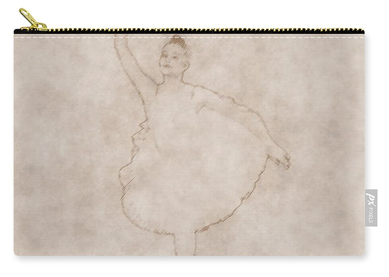 Lehto Carry-all Pouch featuring the photograph Ballerina As Old Drawing by Jouko Lehto