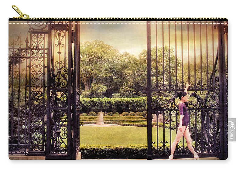 Gate Carry-all Pouch featuring the photograph Ballet At The Vanderbilt Gate by Jessica Jenney