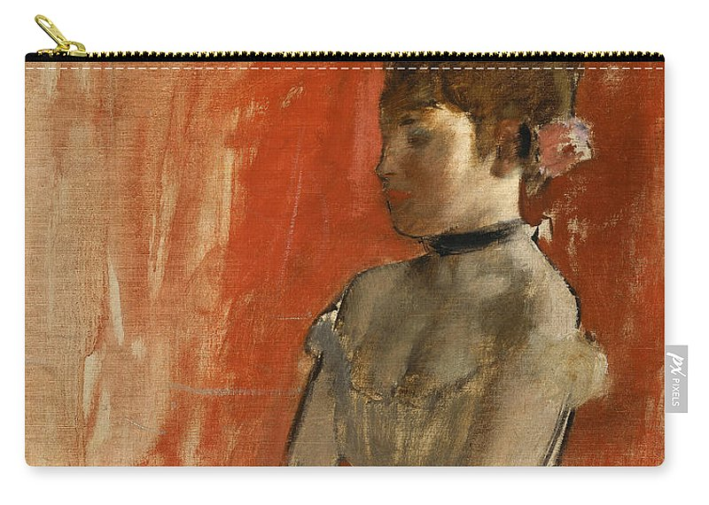 Edgar Degas Carry-all Pouch featuring the painting Ballet Dancer With Arms Crossed by Edgar Degas