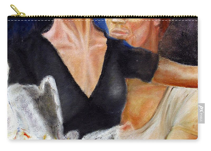 Ballet Carry-all Pouch featuring the painting Ballet Dancers Rehearse For La Bayadere by Tom Conway