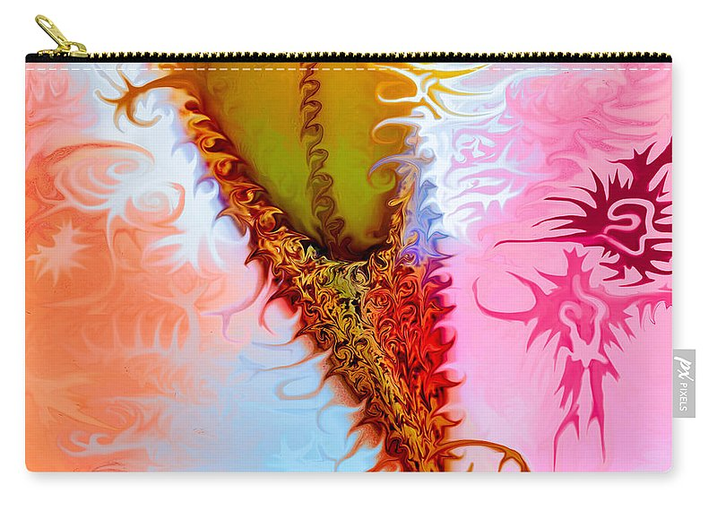 Blue Carry-all Pouch featuring the painting Ballet Dancing by Omaste Witkowski