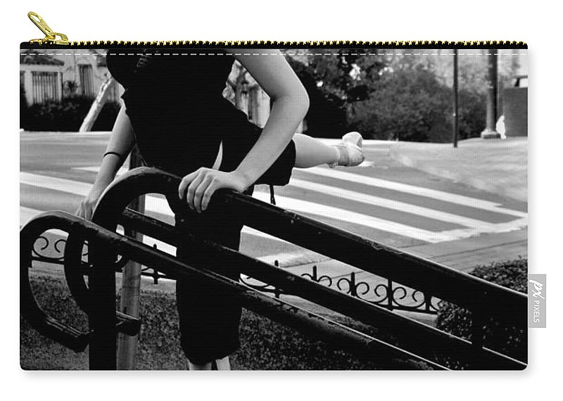 Ballet Carry-all Pouch featuring the photograph Ballet On Lombard Street by Eric Tressler