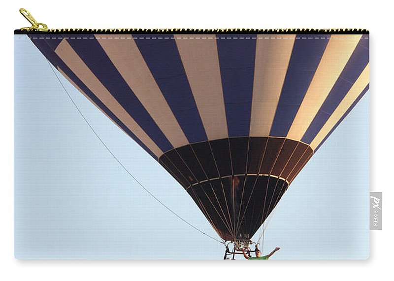 Hot Air Balloon Carry-all Pouch featuring the photograph Balloon-2shotwave-7393 by Gary Gingrich Galleries