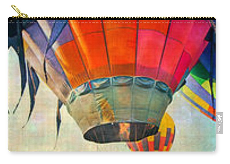 Balloon Carry-all Pouch featuring the digital art Balloon Banner by Betsy Knapp