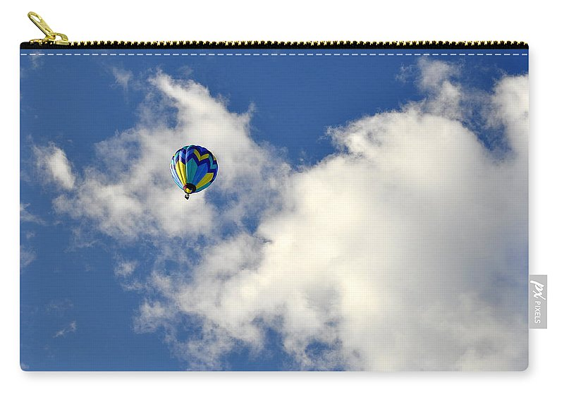 Sports Carry-all Pouch featuring the photograph Balloon In The Clouds by AJ Schibig