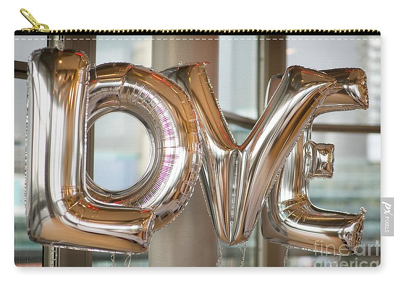 Balloon Carry-all Pouch featuring the photograph Balloon Love by Lee Avison