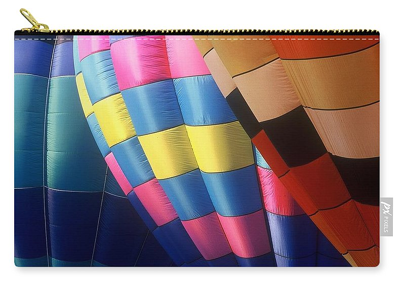 Balloons Carry-all Pouch featuring the photograph Balloon Patterns by Rodney Lee Williams