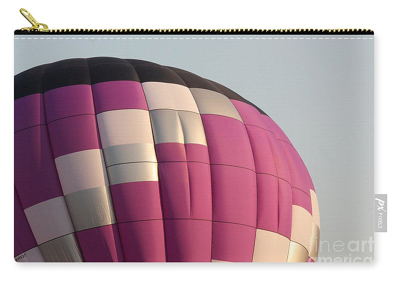 Hot Air Balloon Carry-all Pouch featuring the photograph Balloon-purple-7457 by Gary Gingrich Galleries