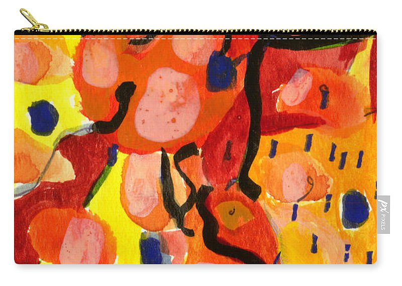 Abstract Art Carry-all Pouch featuring the painting Balloons At Mid-day by Stephen Lucas