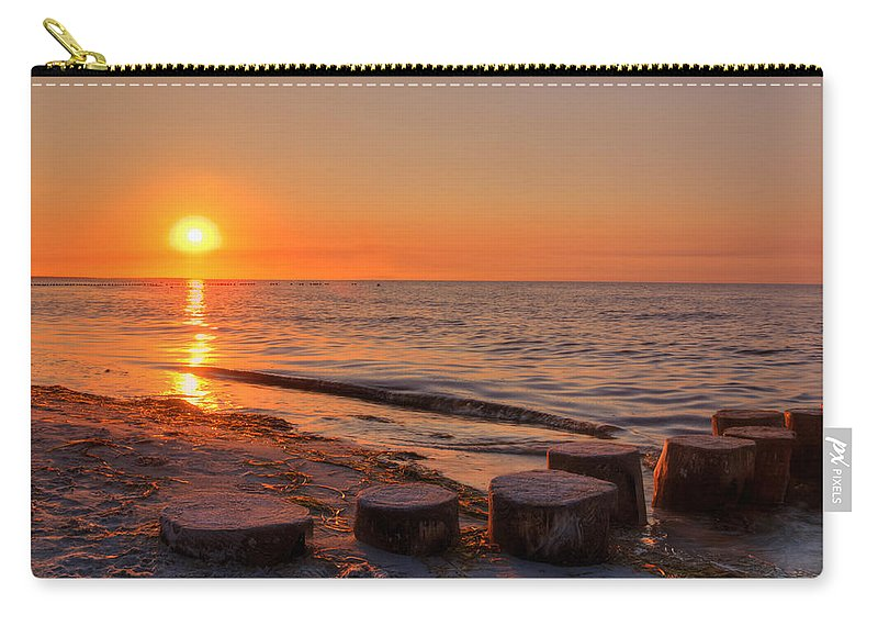 Ostsee Carry-all Pouch featuring the pyrography Baltic Sun by Steffen Gierok