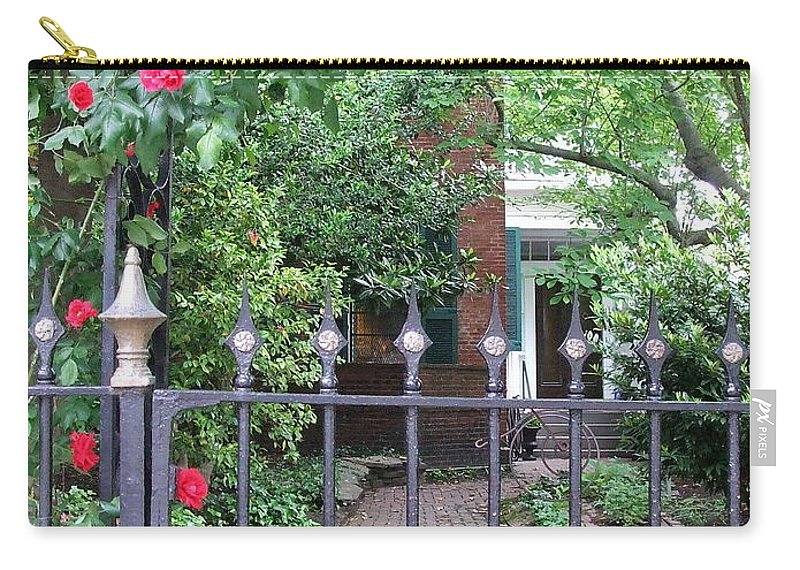 Decorative Carry-all Pouch featuring the photograph Baltimore Garden by Susan Wyman