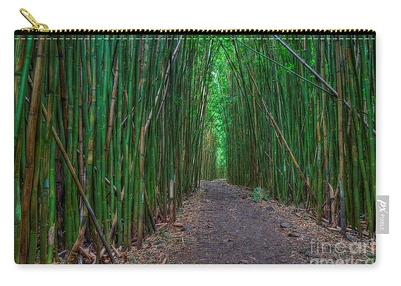 Bamboo Forest Carry-all Pouch featuring the photograph Bamboo Bliss by James Anderson