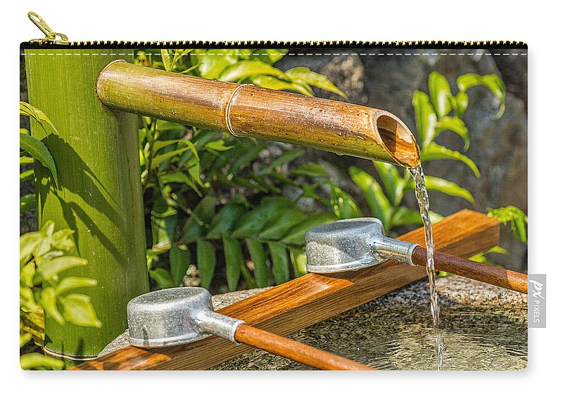 Japanese Carry-all Pouch featuring the photograph Bamboo Spout by Jonah Anderson