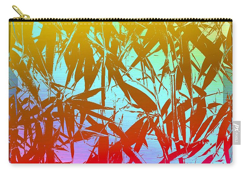 Bamboo Carry-all Pouch featuring the digital art Bamboo Study 7 by Tim Allen