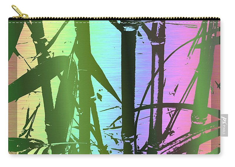 Bamboo Carry-all Pouch featuring the digital art Bamboo Study 8 by Tim Allen