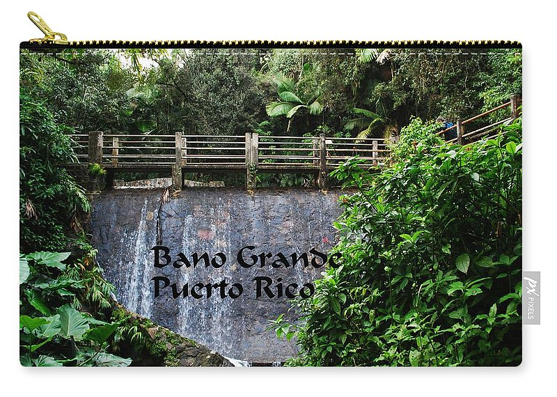 Bano Carry-all Pouch featuring the photograph Bano Gande by Gary Wonning