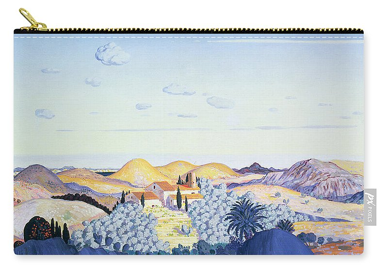 Pyrenees Carry-all Pouch featuring the painting Banyuls, 1913 by Derwent Lees
