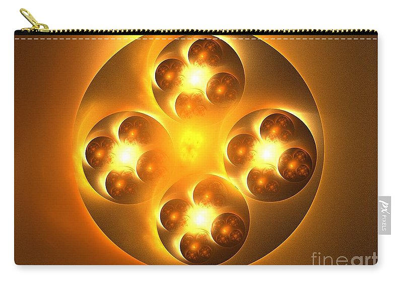 Apophysis Carry-all Pouch featuring the digital art Baoding Balls by Kim Sy Ok
