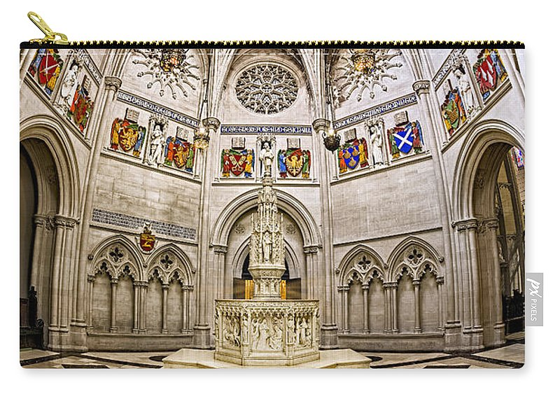 Baptistry Carry-all Pouch featuring the photograph Baptistry At Saint John The Divine Cathedral by Susan Candelario