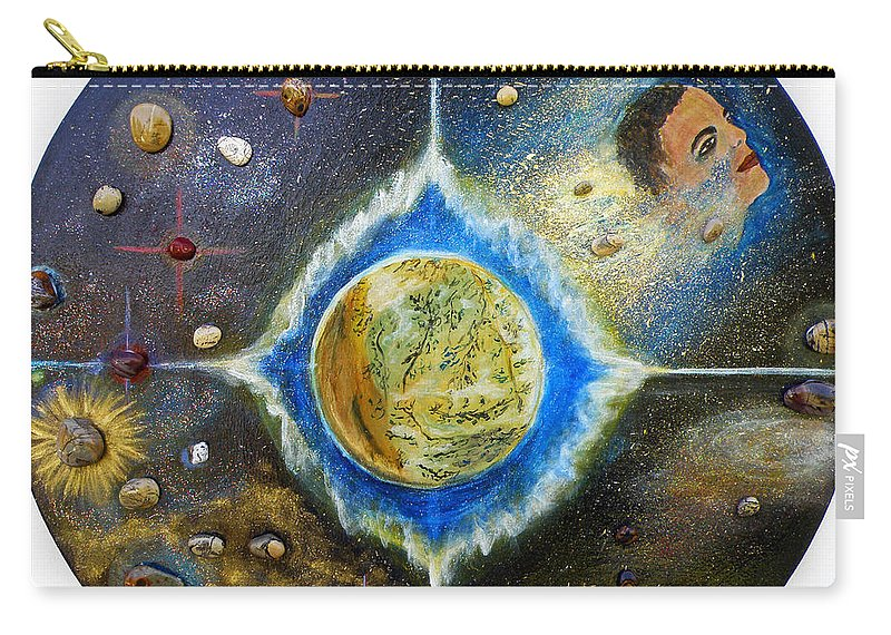 Augusta Stylianou Carry-all Pouch featuring the painting Barack Obama Painting by Augusta Stylianou