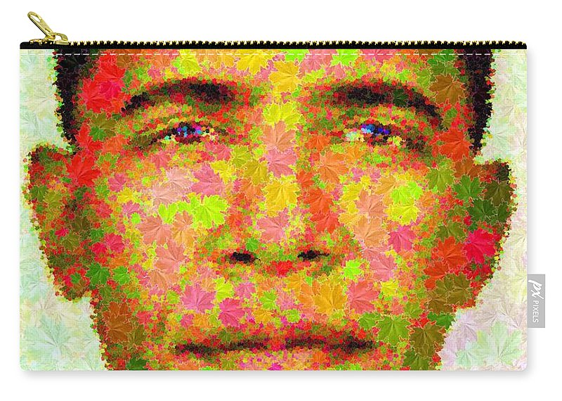 Portrait Carry-all Pouch featuring the painting Barack Obama - Maple Leaves by Samuel Majcen