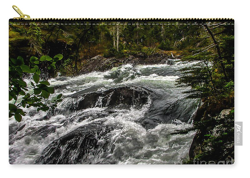 Alaska Carry-all Pouch featuring the photograph Baranof River by Robert Bales