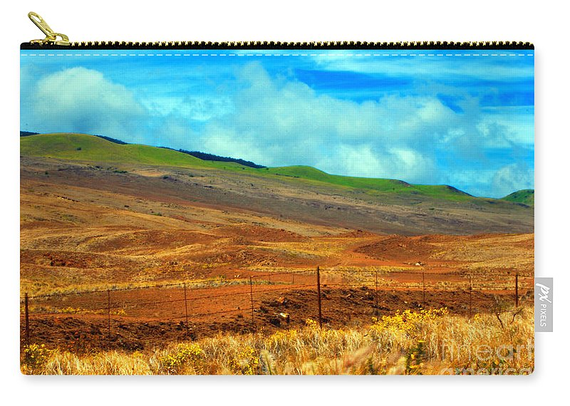 Barbed Wire Carry-all Pouch featuring the photograph Barbed Wire Fence by Paulette B Wright