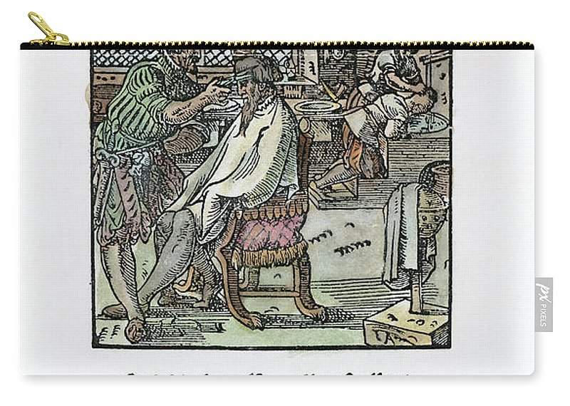 1568 Carry-all Pouch featuring the photograph Barber-surgeon, 1568 by Granger