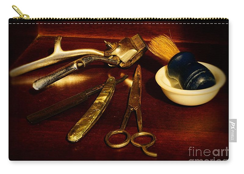 Barber - Things In A Barber Shop Carry-all Pouch featuring the photograph Barber - Things In A Barber Shop by Paul Ward