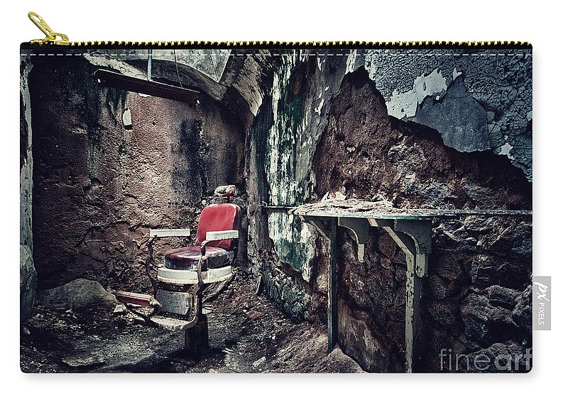 Chair Carry-all Pouch featuring the photograph Barber's Chair by Claudia Kuhn