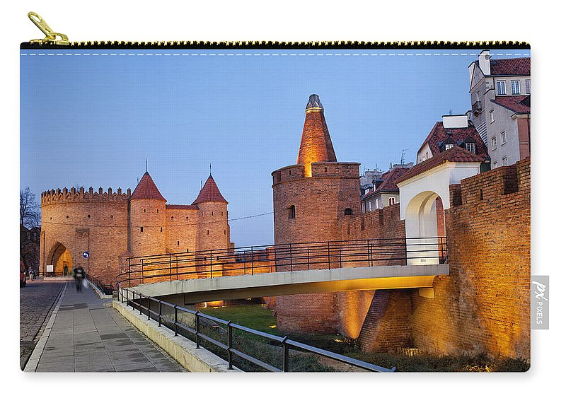 Warsaw Carry-all Pouch featuring the photograph Barbican In The Old Town Of Warsaw by Artur Bogacki