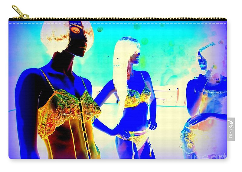 Mannequins Carry-all Pouch featuring the digital art Bare Necessities by Ed Weidman