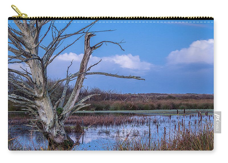 Tree Carry-all Pouch featuring the photograph Bare Tree In Marsh by Greg Nyquist