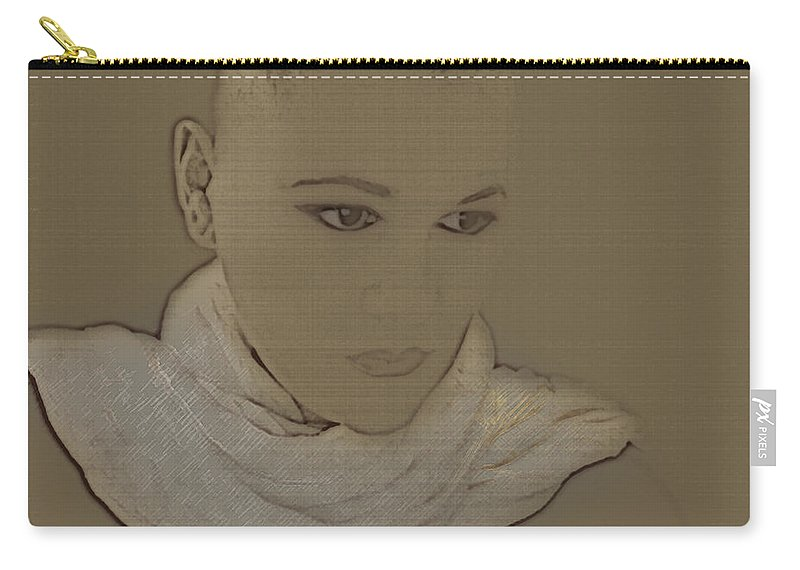 Bald Carry-all Pouch featuring the photograph Bared by Lisa Knechtel