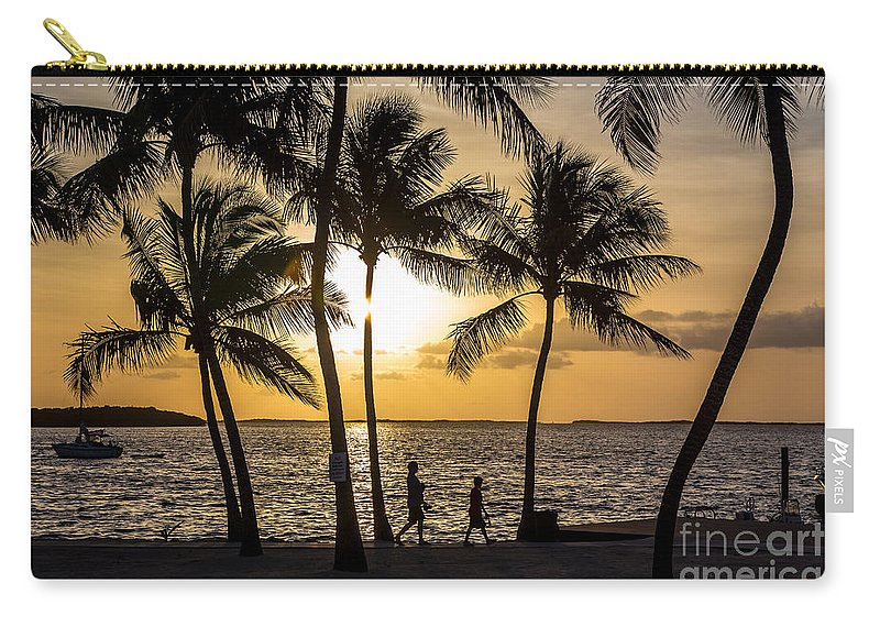 Sunset Carry-all Pouch featuring the photograph Barefoot In The Park by Rene Triay Photography