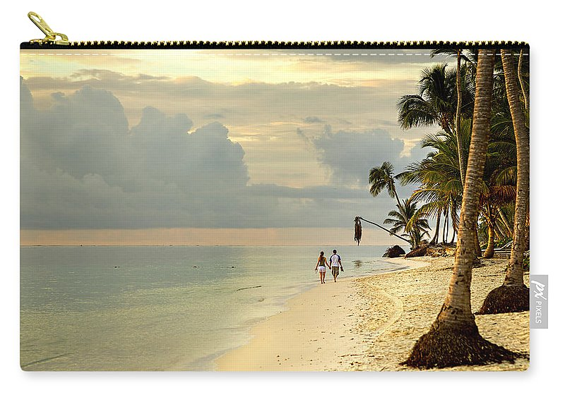 Beach Carry-all Pouch featuring the photograph Barefoot On The Beach by Ian Good
