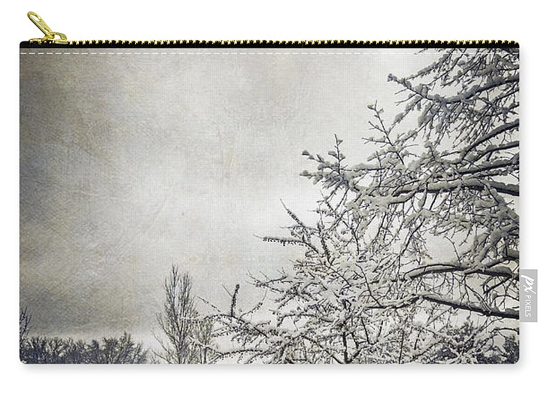 Trees Carry-all Pouch featuring the photograph Barely Frozen by Margie Hurwich