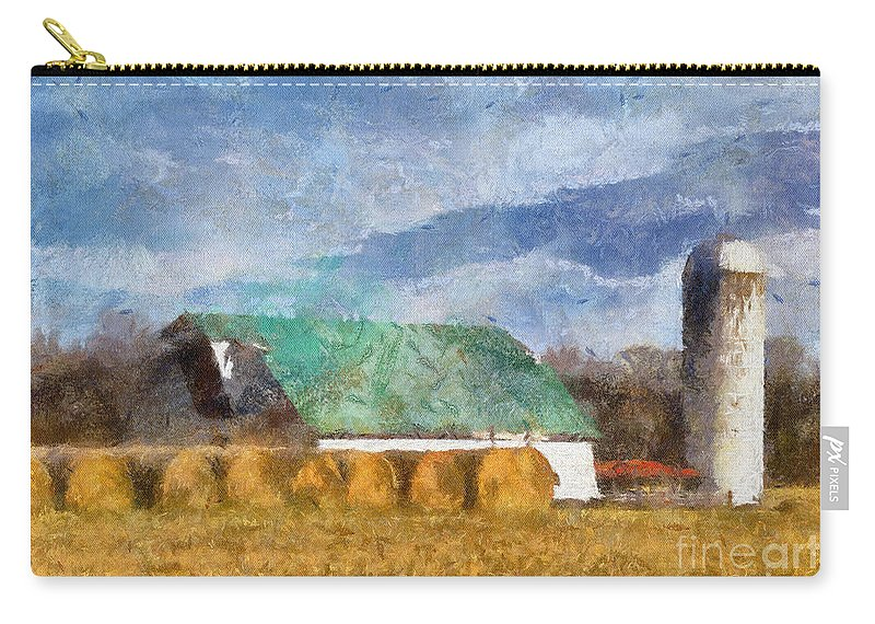 Barn Carry-all Pouch featuring the photograph Barn And Silo In West Virginia by Kerri Farley