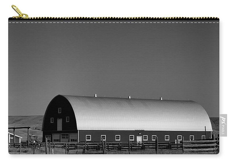 Barn Carry-all Pouch featuring the photograph Barn At Deer Lodge by Cathy Anderson