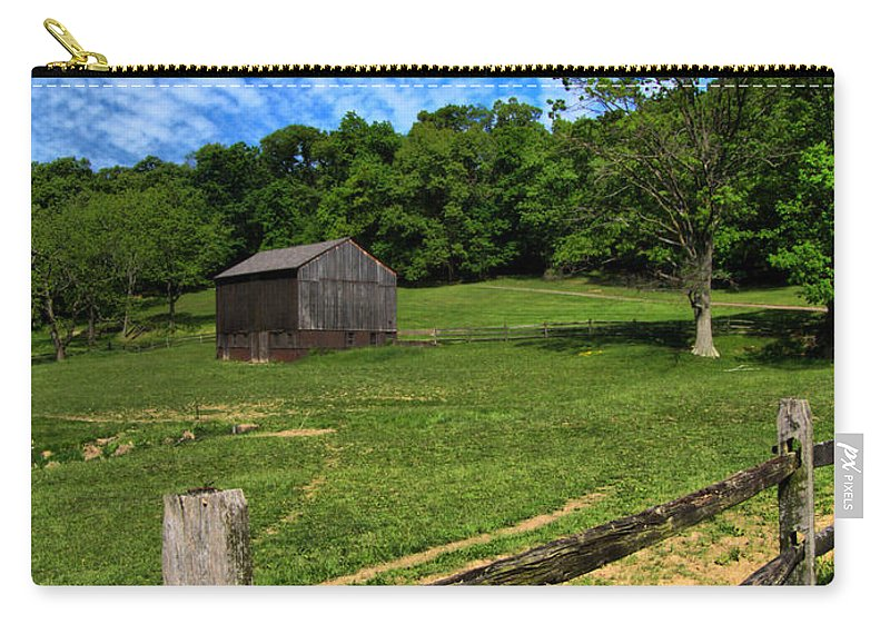 Allegheny County Carry-all Pouch featuring the photograph Barn At Hartwood Acres Under Beautiful Sky by Amy Cicconi