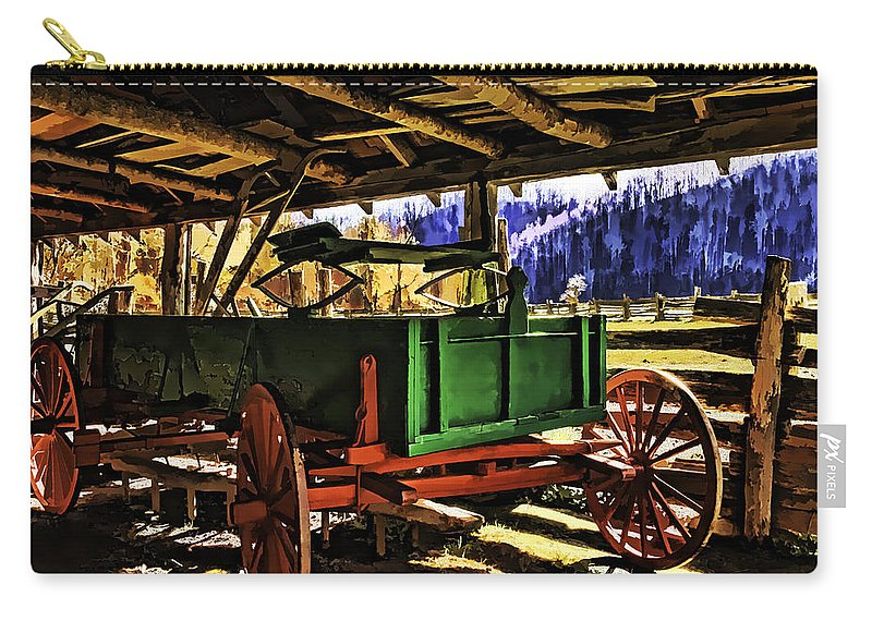Barn Carry-all Pouch featuring the painting Barn by Muhie Kanawati