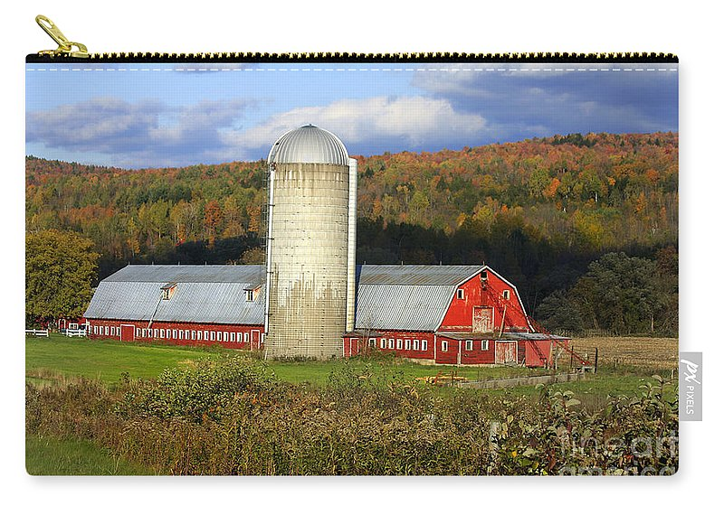 Landscape Carry-all Pouch featuring the photograph Barn On The River Rd. by Deborah Benoit