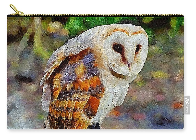 Barn Owl Carry-all Pouch featuring the photograph Barn Owl by Chris Thaxter