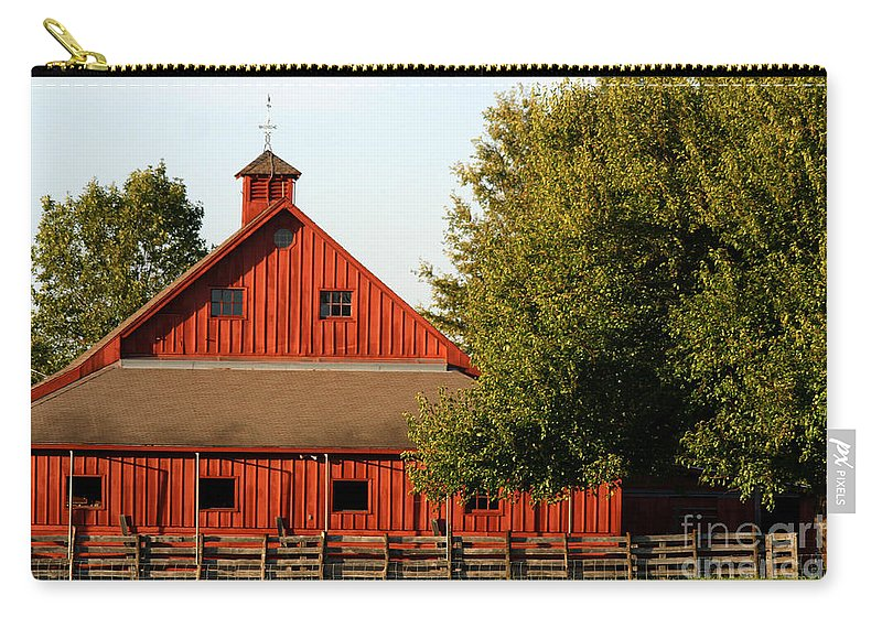 Agriculture Carry-all Pouch featuring the pyrography Barn South-3586 by Gary Gingrich Galleries